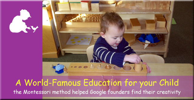 Anne Frank Montessori Day Nursery - a world-famous education for your child. The Montessori method helped Google founders find their creativity.