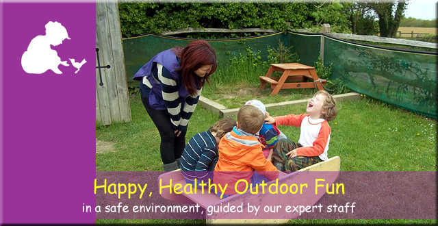 Anne Frank Montessori Day Nursery - happy, healthy outdoor fun in a safe environment, guided by our expert staff.